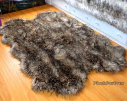brown faux fur rug rugs inspiration