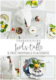 thanksgiving table free printable place mats my fabuless