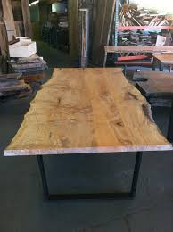Redwood Dining Table Live Edge Redwood Table For The Deck Slab Should Be Less
