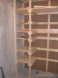 cold storage unit plan food storage shelves and storage bins