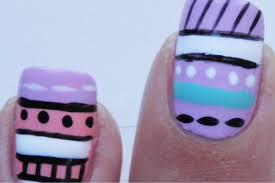 colorful tribal aztec nail art tutorial youtube