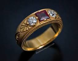 mens old rings images Antique russian gold diamond and spinel men 39 s ring moscow 1908 jpg