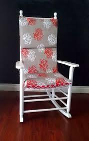 Rocking Chair Pads Nursery Rocking Chair Cushion Leopard Navy Linen Animal Print By