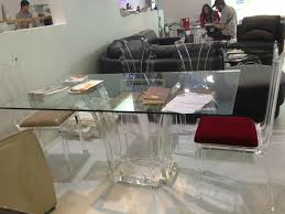 Lucite Dining Room Chairs Transparent Acrylic Lucite Glass Dining Table Ct047 Hong Kong
