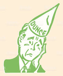 How To Make A Dunce Cap Out Of Paper - sad in dunce cap stock vector more images of 2015