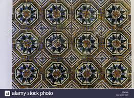 Moorish Design by Early 16th Century Hispano Moorish Azulejos Glazed Ceramic