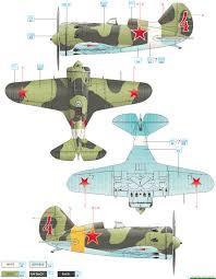 polikarpov i 16 type 10 vvs 1944 color profile and paint guide