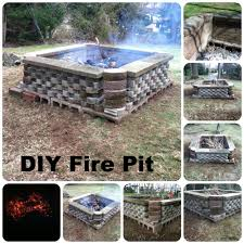 building a fire pit with repurposed materials http