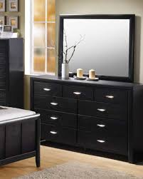 Black And Mirrored Bedroom Furniture Black Dresser W Mirror Hailee By Acme Ac21475dm