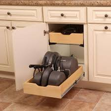 Kitchen Cabinet Storage Organizers Real Solutions For Real 7 5 In X 15 3 In X 12 In Pot And