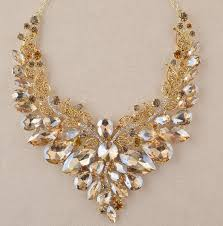 jewellery necklace earring sets images Indian jewellery champagne crystal necklace earrings bridal jpg