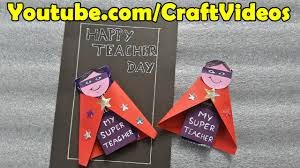 day cards teachers day greeting card designs handmade chocolate wrapping