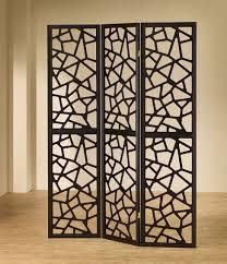 3 panel black finish wood