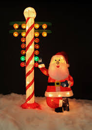 Outdoor Christmas Tree Decorations by Amazon Com Christmas Drag Racing Santa With North Pole Candy