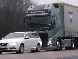automatic volvo semi truck volvo has a braking system that can stop a 40 ton semi on a dime