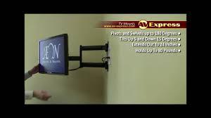 full motion corner tv wall mount swivel lcd tv wall mount bracket av express review youtube