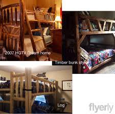 COLORADO MADE Rustic Log Timber Adult Bunk Beds Colorado Rustic - Timber bunk bed
