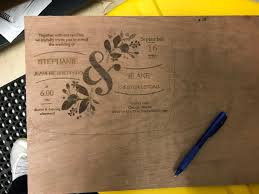 sur la table cutting board turning a wedding invitation into a cutting board it is alive in
