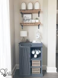 Make Sliding Barn Door by Diy Barn Door Coffee Cabinet Shanty 2 Chic