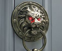 lion door knocker glowing lion door knocker