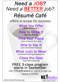 Follow Up Resume Resume Cafe U2014 Networks Cooperative Ministry