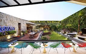 stylish tropical paradise theme of lemongrass restaurant designed