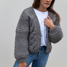 knitted sweater nia cable knitted cardigan hello parry
