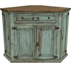 Santa Fe Antique Turquoise Rustic Corner Tv Stand Pinteres