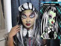 Monster High Halloween Costumes Frankie Stein by Monster High Frankie Stein Makeup Tutorial Youtube