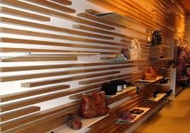 Wood Slat Ceiling System by Wall Shelves Design Inovative Slat Wall Shelving Design Slatwall