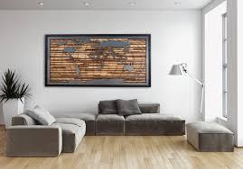 World Map Wood Wall Art by Custom Made World Map Artwork Made Of Old Barnwood And Natural