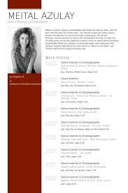 Ballet Resume Sample by Dance Teacher U0026 Choreographer Resume Example Lifelong Learning