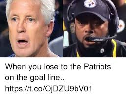 Patriots Lose Meme - when you lose to the patriots on the goal line httpstcoojdzu9bv01