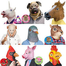 Latex Halloween Costume Animal Head Mask Rubber Latex Halloween Costume Accoutrements