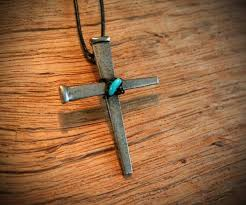 cross stone necklace images Ironfish jpg