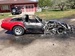 c3 corvettes ruptured fuel line burns c3 corvette to a crisp corvetteforum