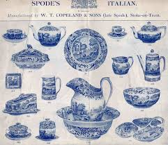 spode history blue italian early advertisement my style