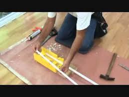 cutting quarter trim for a laminate floor