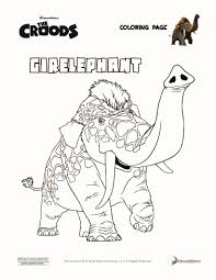 girelephant the croods coloring page croods pinterest