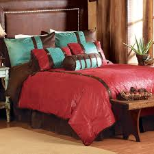 western bedding full size cheyenne red bed set lone star western