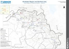 Kurdistan Map Syrian Refugee Response In Kurdistan Iraq