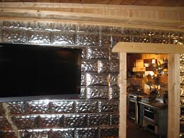 Mobile Home Interior Walls Lake House Renovation Wall Covering Using Galvanized Aluminum