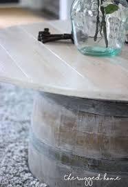 Wine Barrel Home Decor Wine Barrel Coffee Table Hometalk