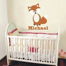Personalized Nursery Decor Fox Wall Decals Personalized Name Vinyl Wall Baby Nursery