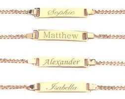 child bracelet gold images Baby bracelet baby id bracelet custom name bracelet child jpg