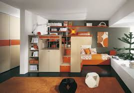 room design decorate room small furniture orange fully organized
