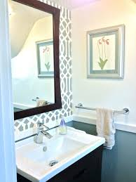 bathroom stencil ideas chair rail ideas sophisticated powder room reveal tiny silver gem
