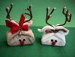 Christmas Decorations With Reindeer by Reindeer Washcloth Craft Christmas Gift Idea Video Tutorial
