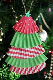 homemade christmas tree ornament using newspaper and flour