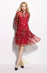 chiffon dress floral print chiffon overlay knee length dress val dresses